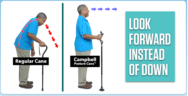 Walking with Campbell Posture Cane